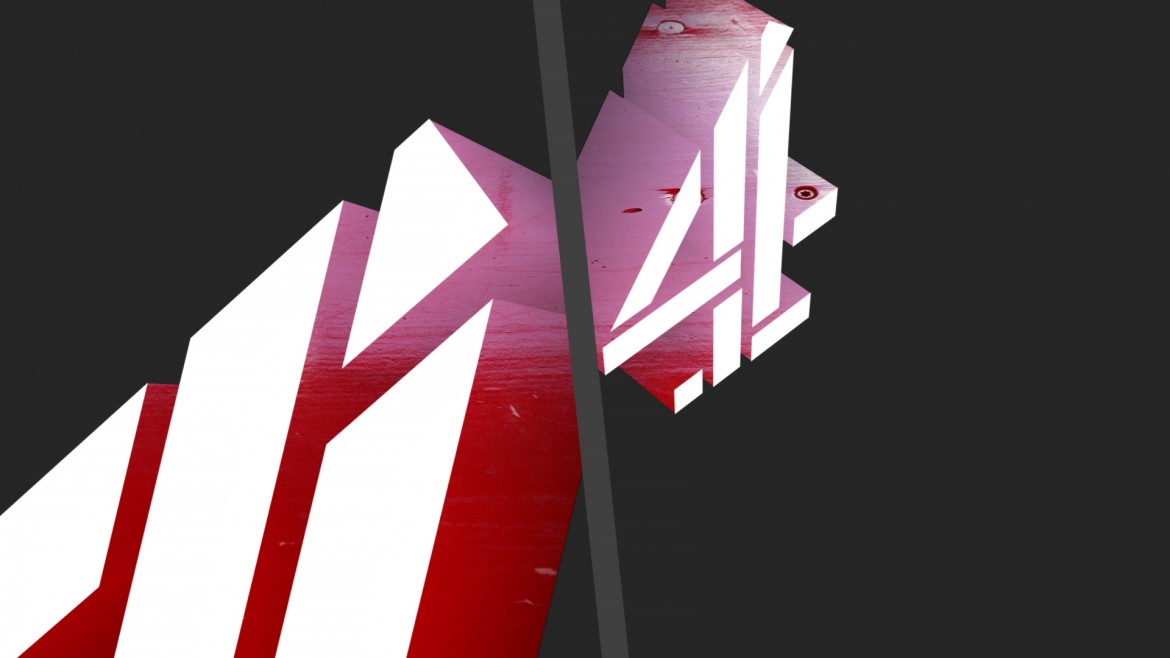 Our cubist Channel 4 logo