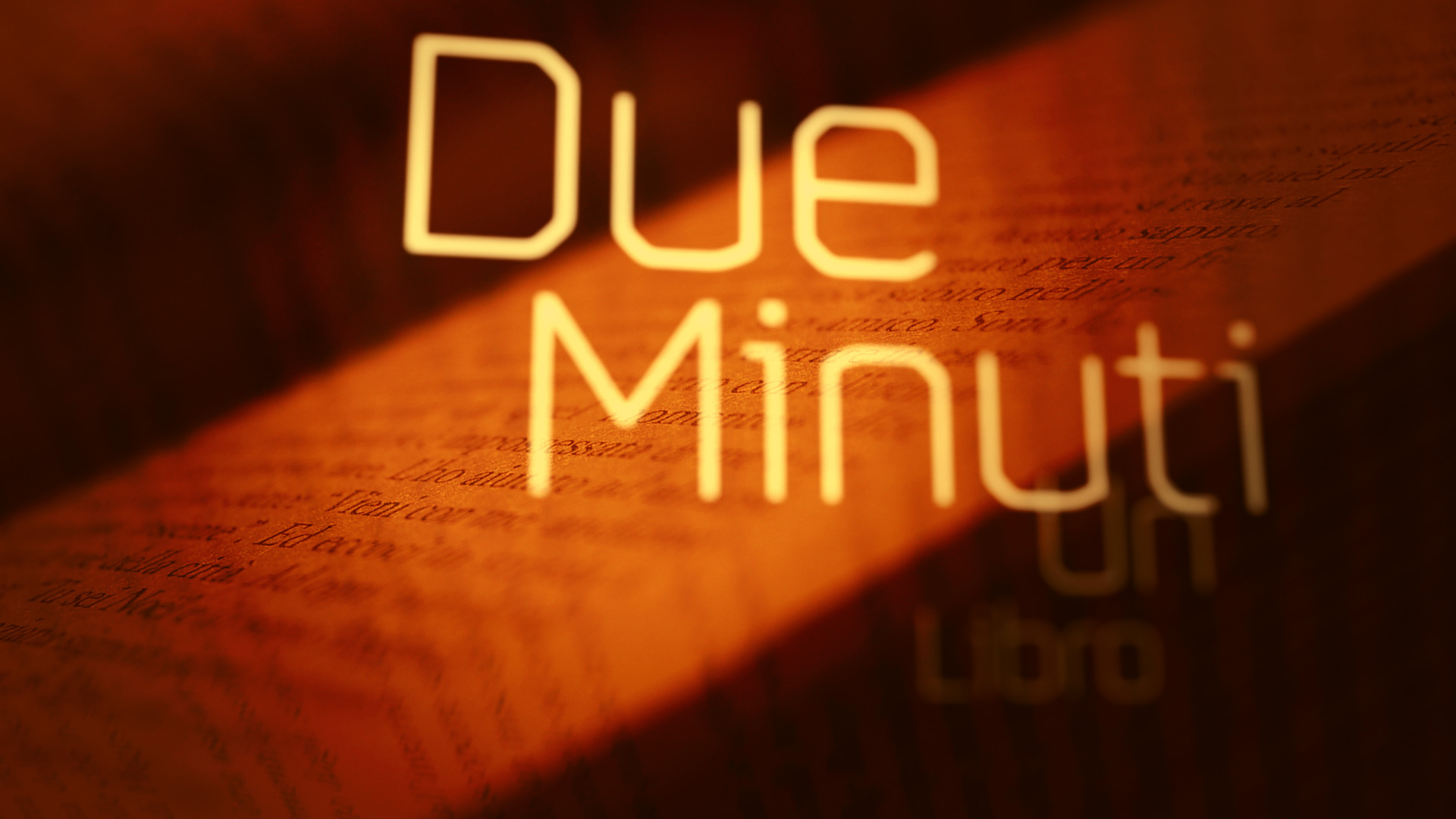 Still from Due Minute Un Libro title sequence