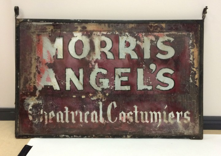 Recently discovered very early shop sign