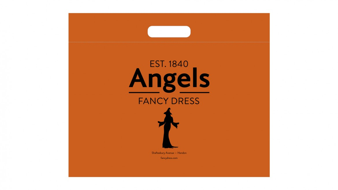 Angels-Rebrand-Rudd-Studio-Halloween carrier bag
