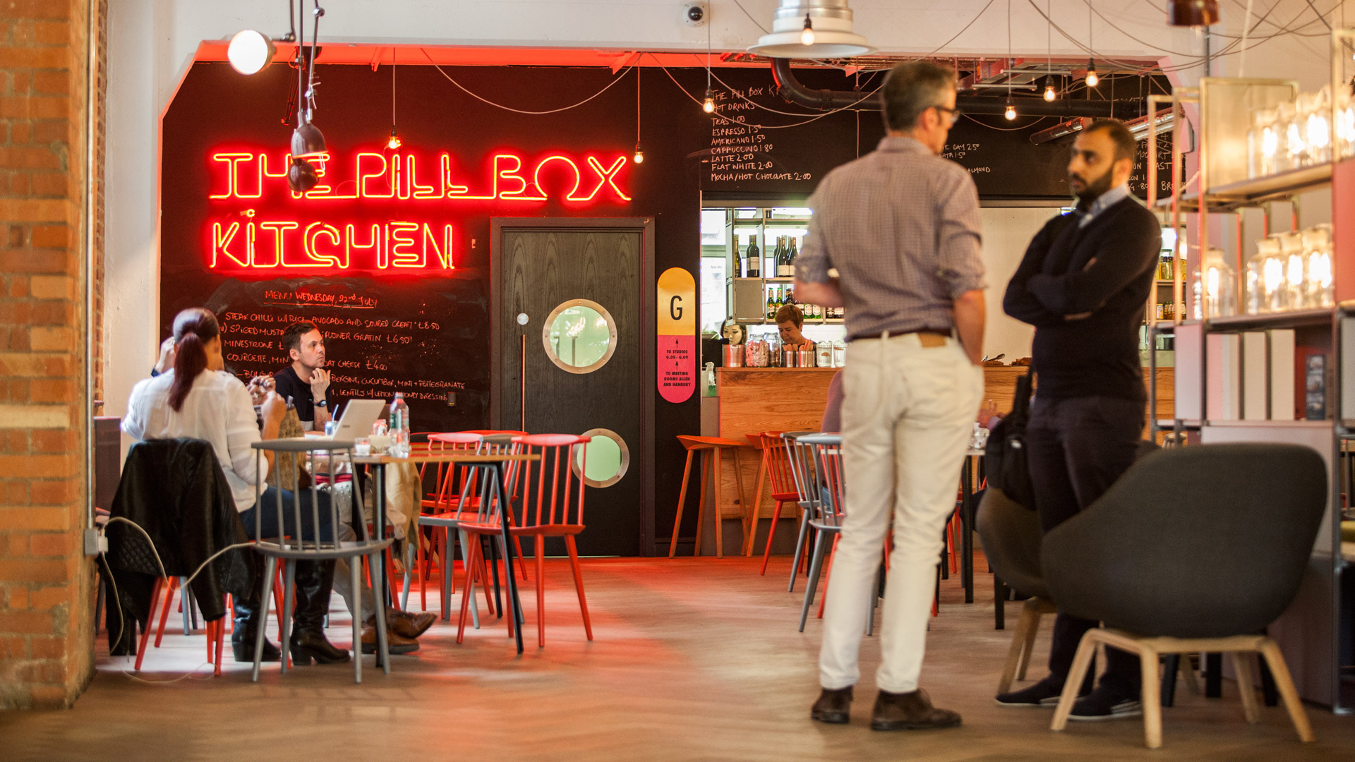 The Pill Box café area